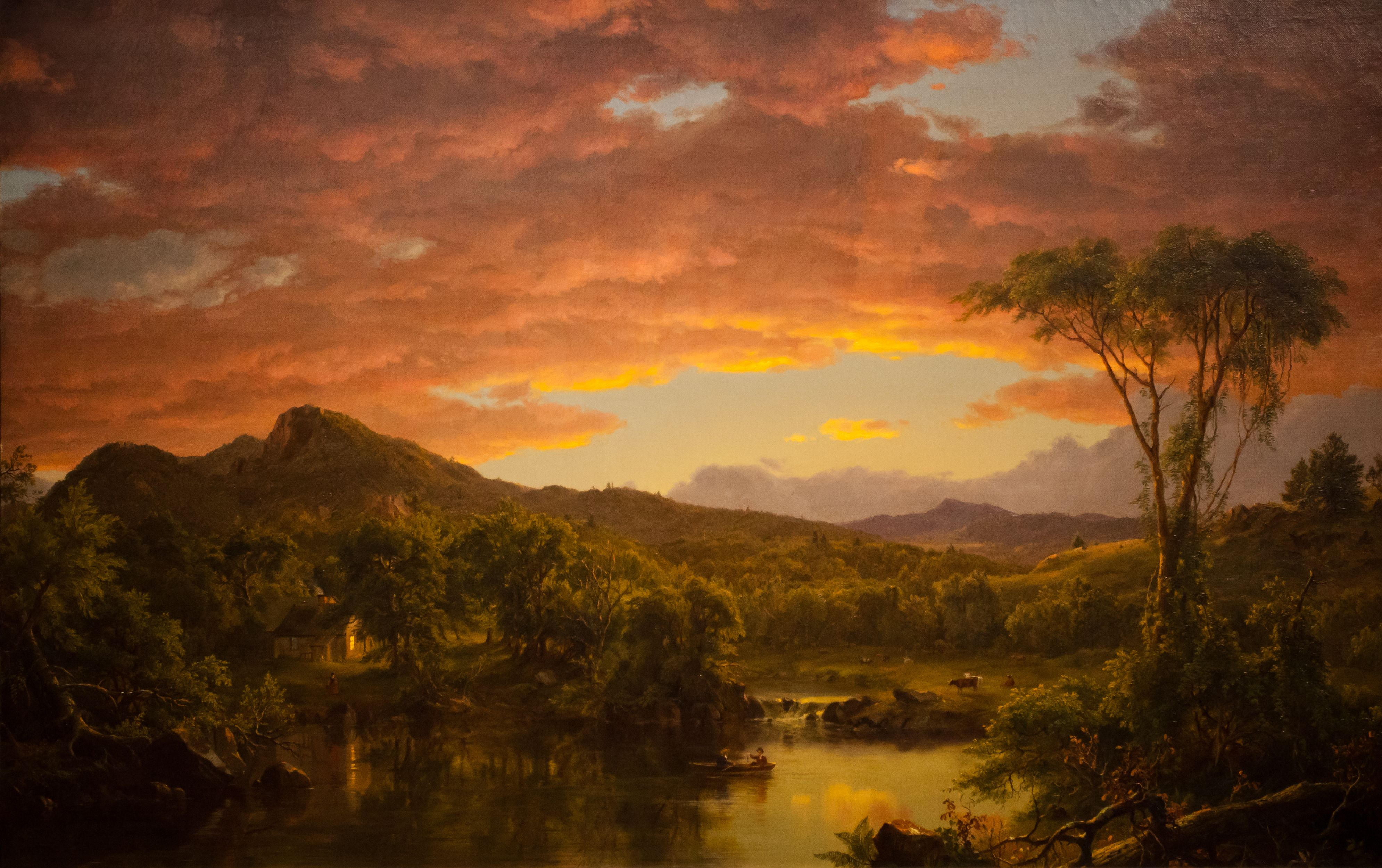 Frederic Edwin Church A Country Home 1854 The Emphasis On Nature Is Encouraged By The Lack Of People American Painting Landscape Paintings Landscape Artist