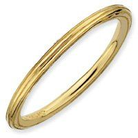 Timeless Silver Stackable Gold Step Down Band. Sizes 5-10 Available Jewelry Pot. $19.99. 100% Satisfaction Guarantee. Questions? Call 866-923-4446. 30 Day Money Back Guarantee. Your item will be shipped the same or next weekday!. Fabulous Promotions and Discounts!. All Genuine Diamonds, Gemstones, Materials, and Precious Metals