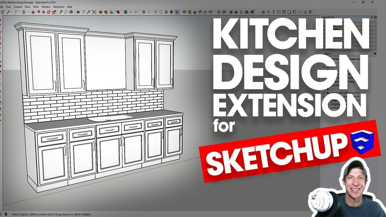 easy kitchen design in sketchup with sketchthis kitchen design