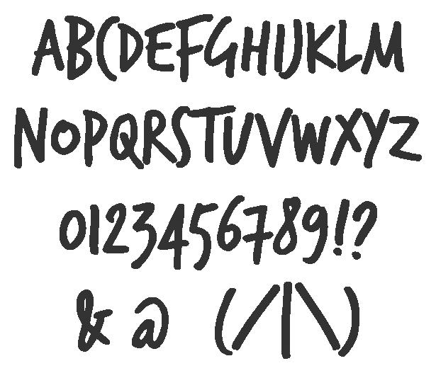 Trashhand Yazı Font ücretsiz Indir Text