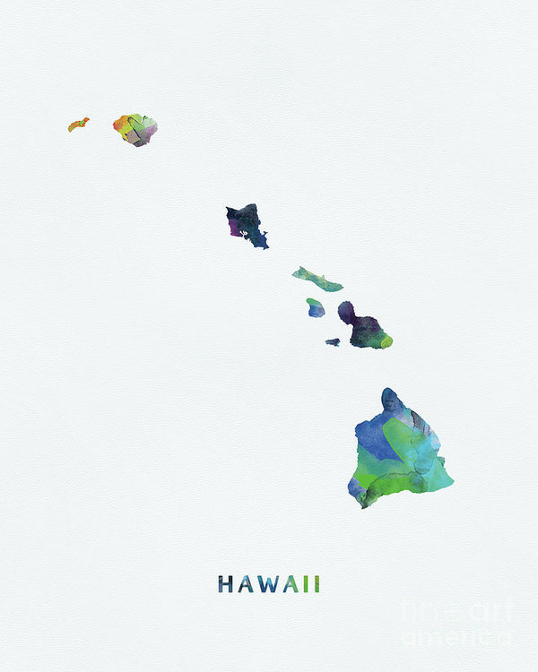 Hawaii Art Print By Monn Print In 2021 Island Tattoo Hawaii Island Tattoo Hawaii Art