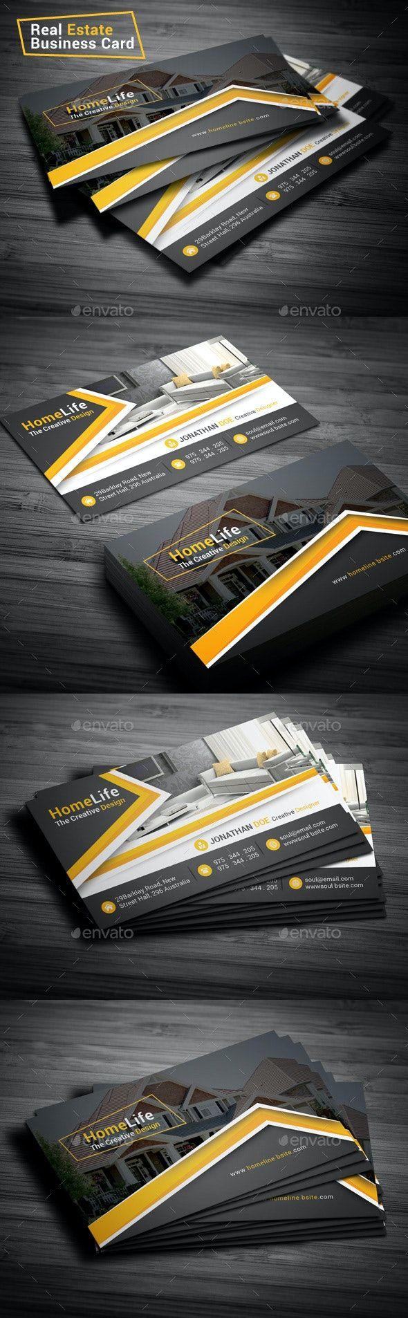 Real Estate Business Card Real Estate Business Cards Real Estate Business Business Card Template Design