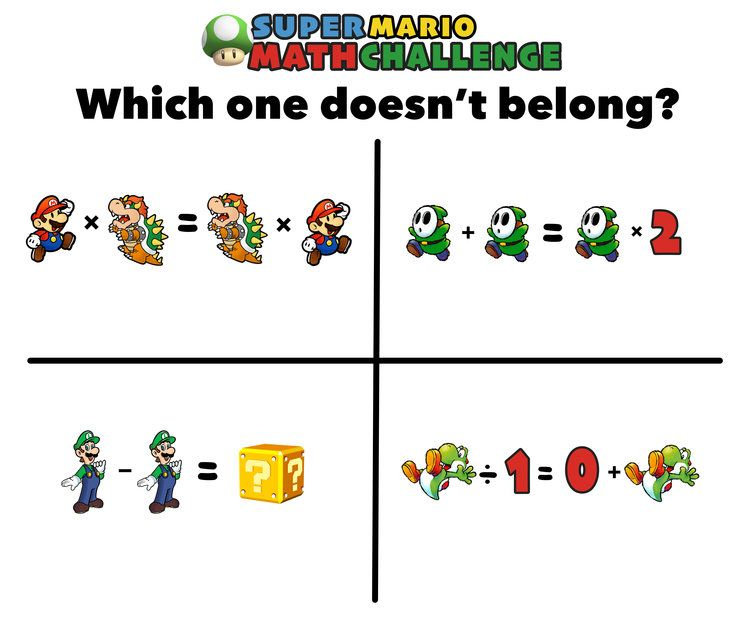 Have You Seen These Free Super Mario Math Puzzles?