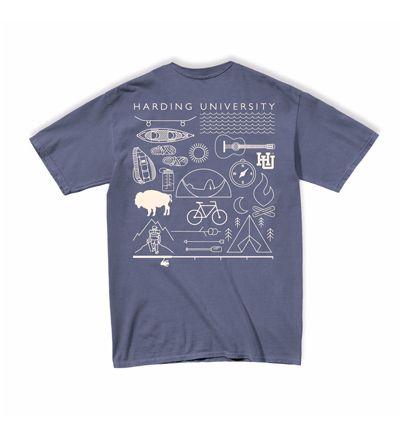 Mv Sport Comfort Color Get Active Blue Jean Mens Tops Shirts T