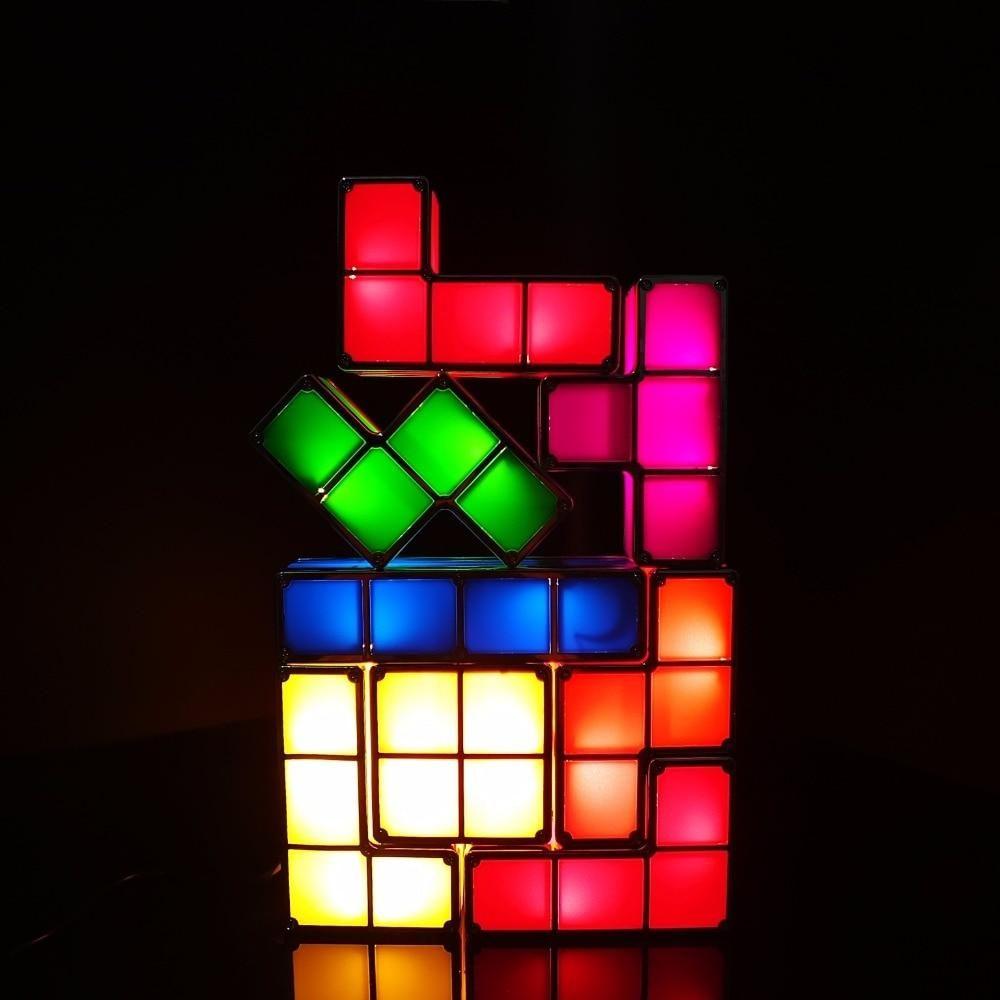 Tetris Stackable LED Night Light Puzzle lights, Led