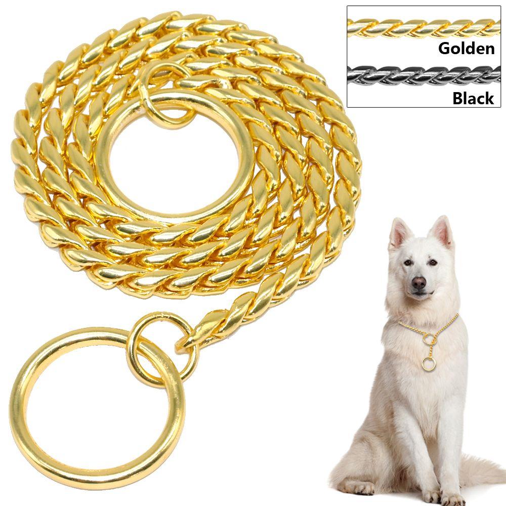 Snake Chain Dog Training Collar Pet Show Collar Heavy Duty Metal