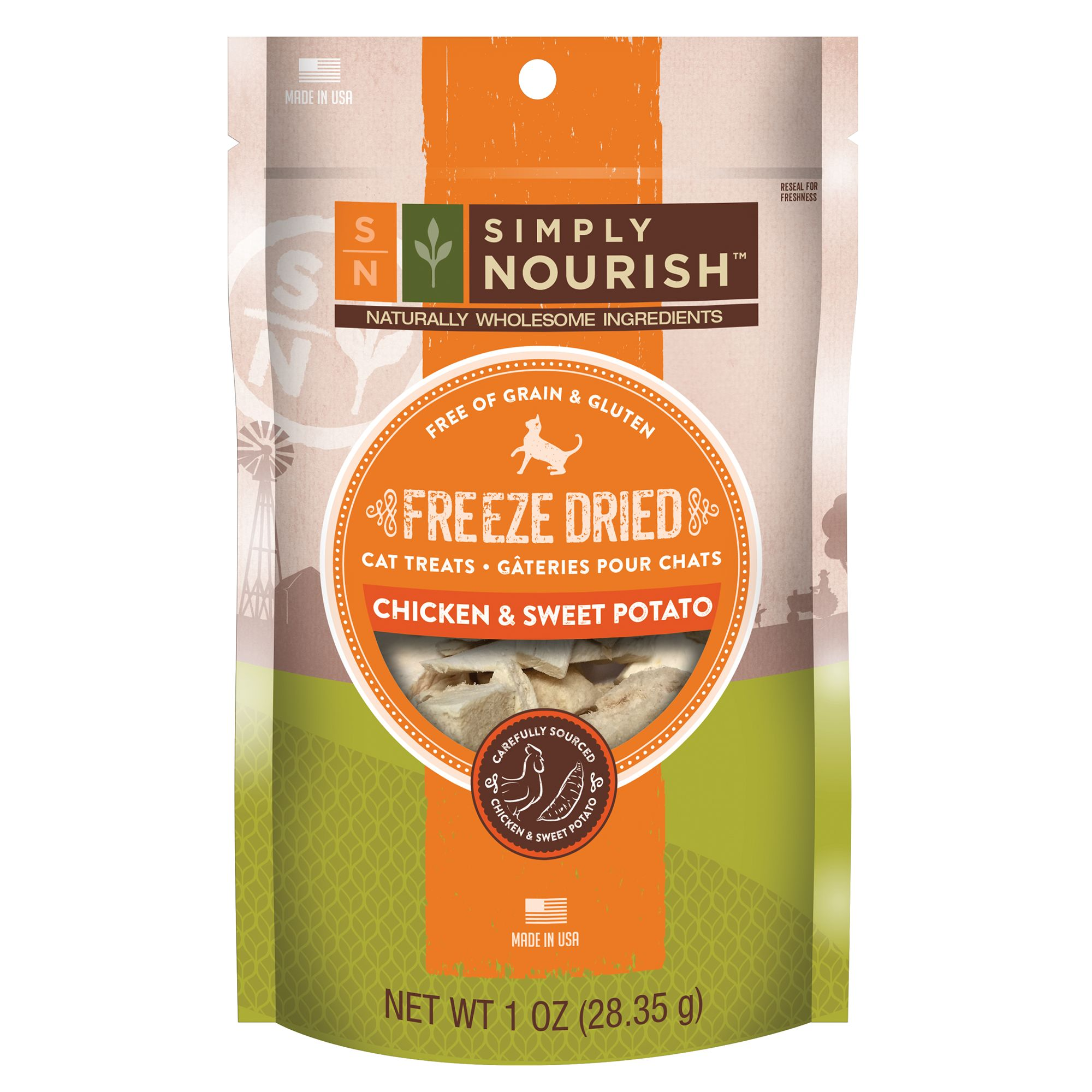 Simply Nourish Freeze Dried Chicken And Sweet Potato Cat Treat