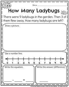 Kindergarten Worksheets for May | Word problems, Kindergarten and ...