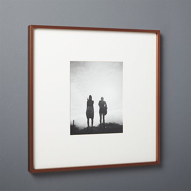 gallery copper 8x10 picture frame with white mat | 7th Anniversary ...