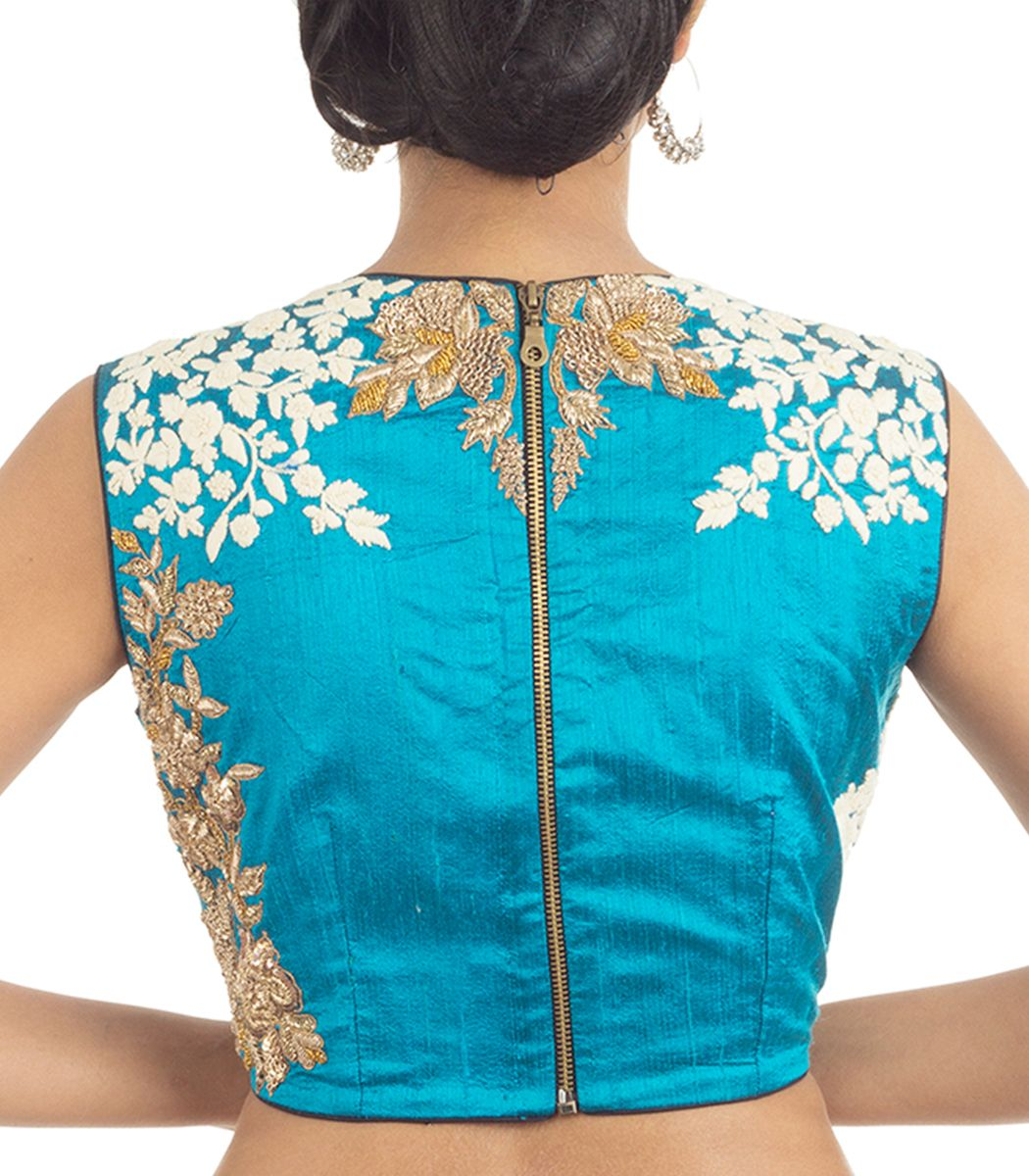 Blue raw silk embroidery designer blouse bl indian house agencies also rh ar pinterest