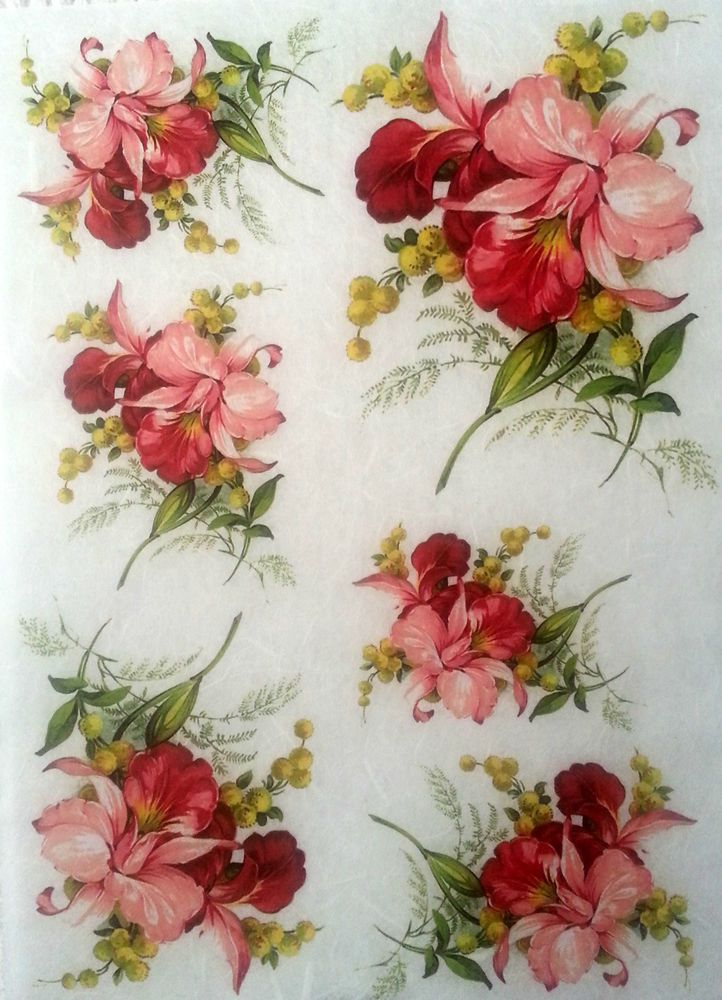 Rice Decoupage Paper Flowers World Decoupage Sheets