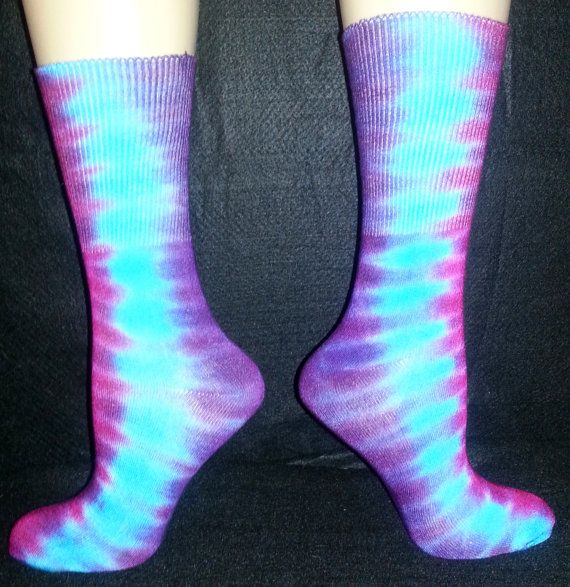 56d335310000b Hand Dyed tie dye Bamboo socks Adult by FlipSideTieDyes on Etsy ...