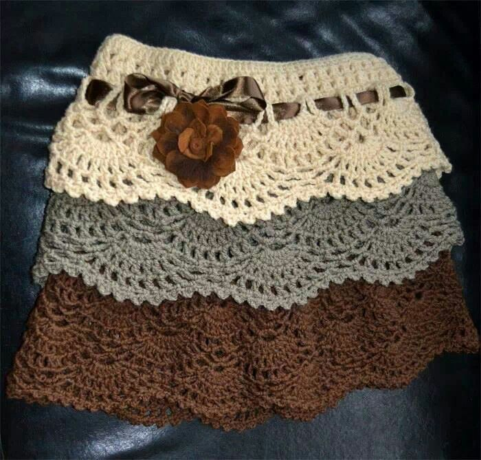 Crochet- I like this look, I can see taking this down to mid-calf ...