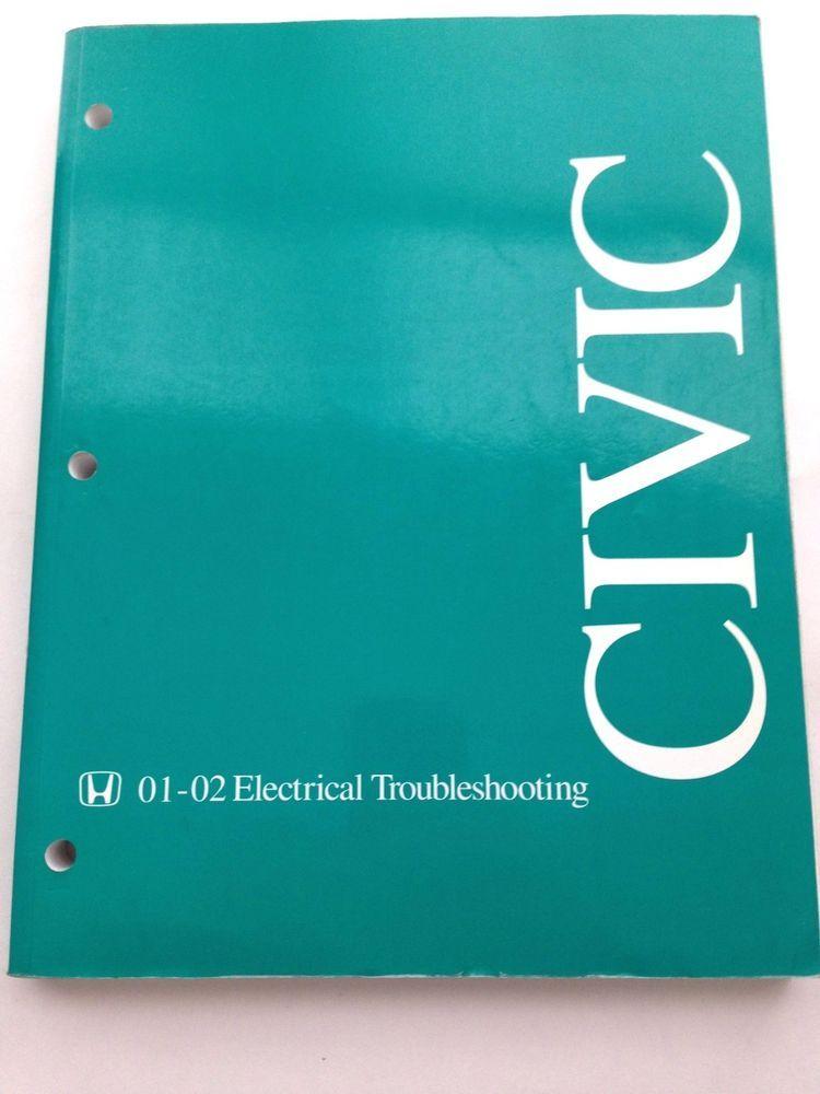 2001 2002 Honda Civic Electrical Troubleshooting Manual Repair Copy Used