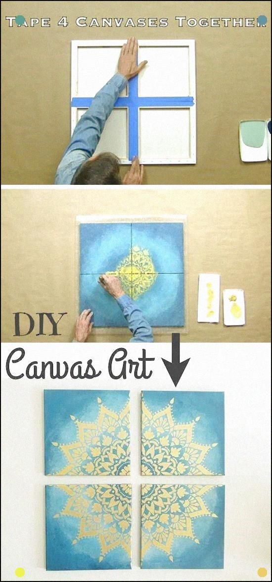 Cool Art Project For Teens Easy Diy Canvas Painting Idea- - The Coolest Wall Art...