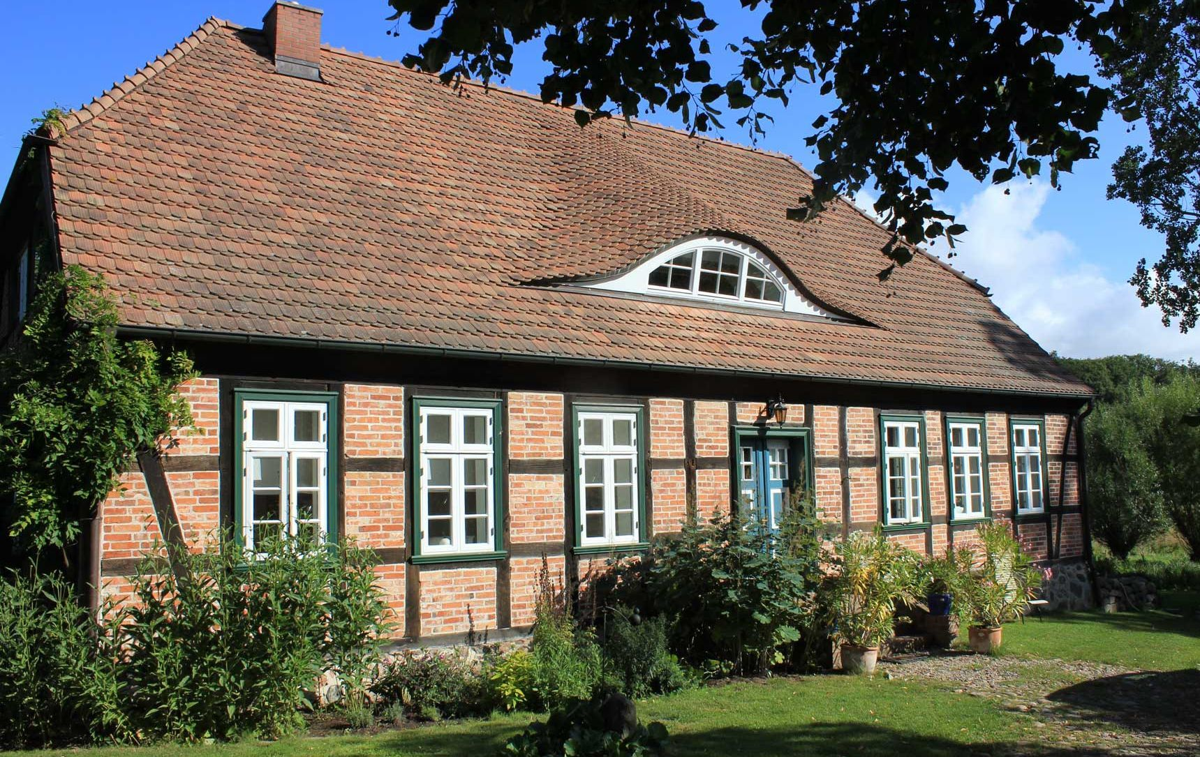 Fachwerkhaus MecklenburgVorpommern Anbau gartenhaus