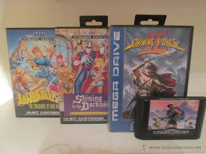 Lote De Juegos Sega Megadrive Shining Force I Y Ii Shining In The
