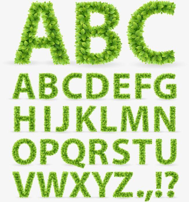 Green Leaves Alphabet Letter Wordart Arabic Png Transparent