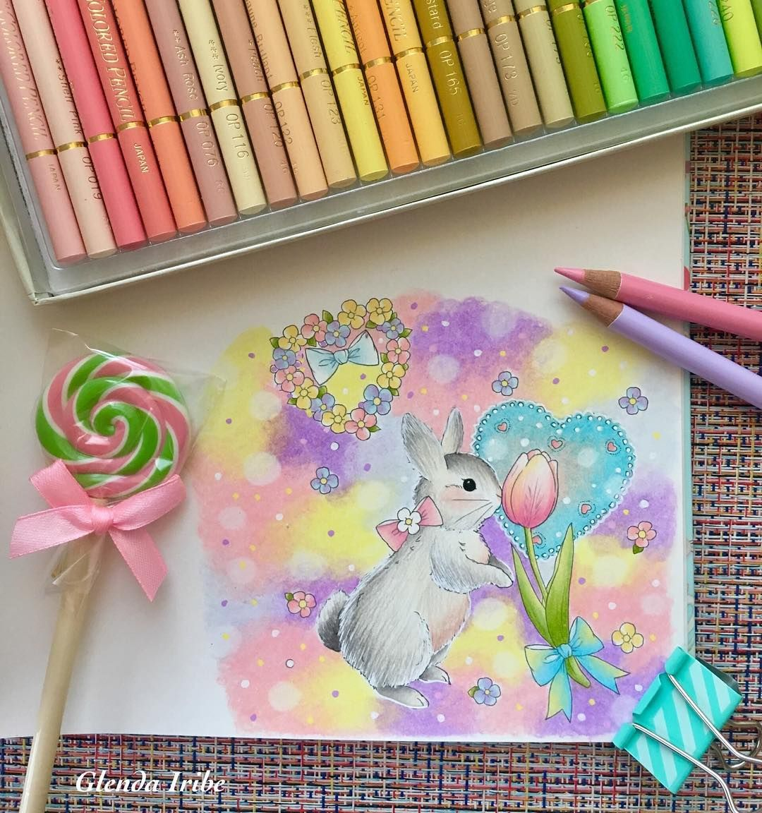 Colors Make You Happy De Miki Takei Vol 2 Faber Castell Polychromos Prismacolor Premier Holbein Pas Coloring Book Art Color Pencil Art Coloring Books