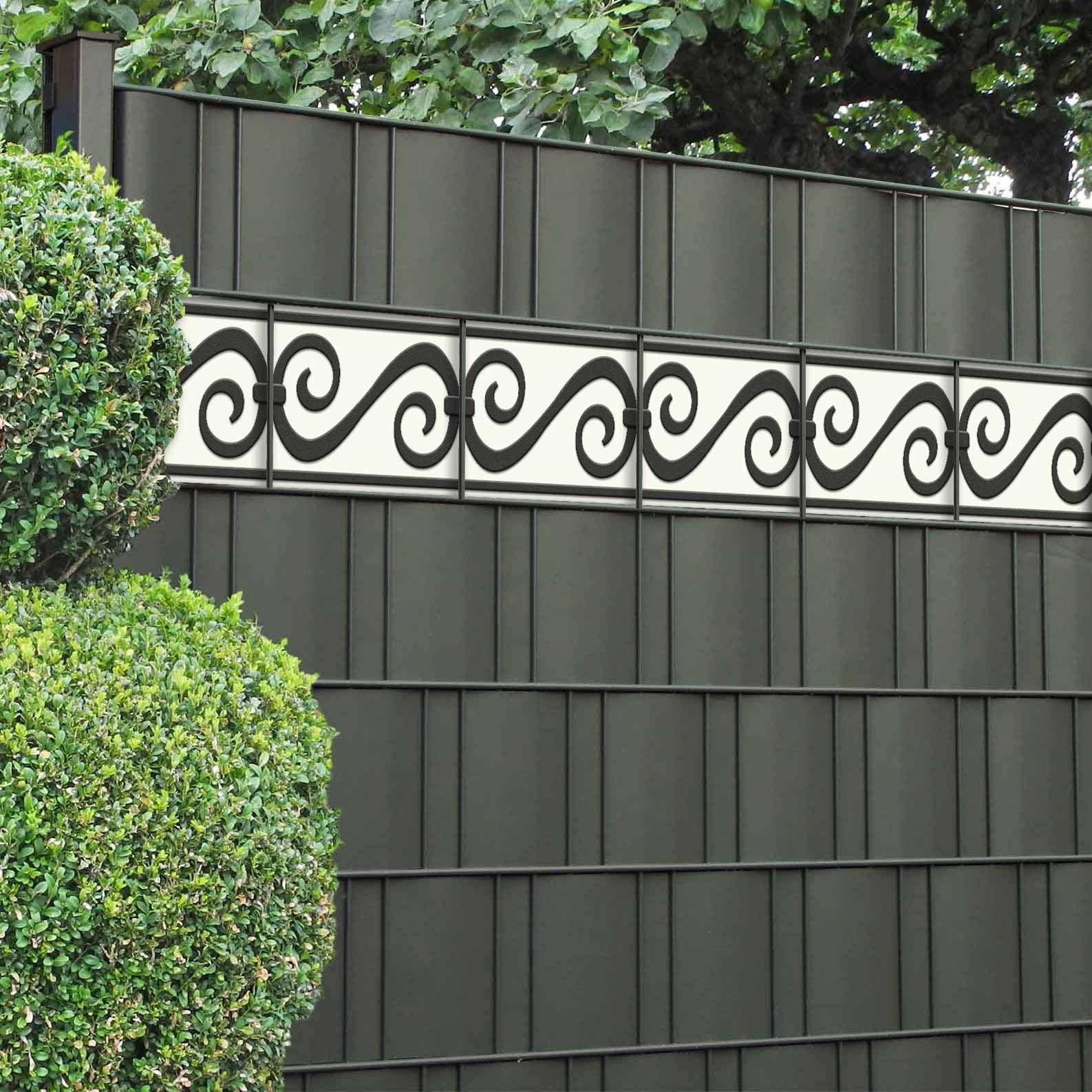 Dekor Sichtschutzstreifen Motiv Rom Sichtschutz Garten Zaun