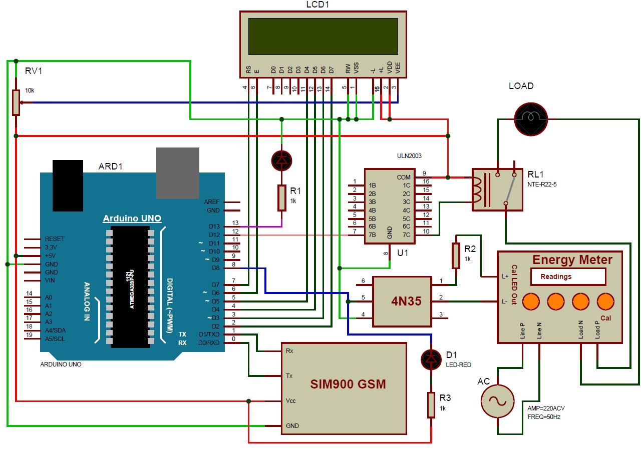 prepaid energy meter using gsm circuit diagram arduino in 2019 prepaid energy meter using gsm block diagram [ 1284 x 902 Pixel ]