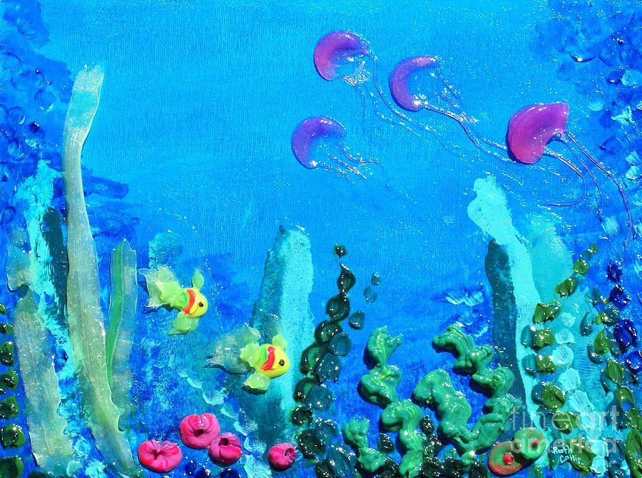 Under The Sea Watercolor Painting , Coral Reef Painting , Ocean ...