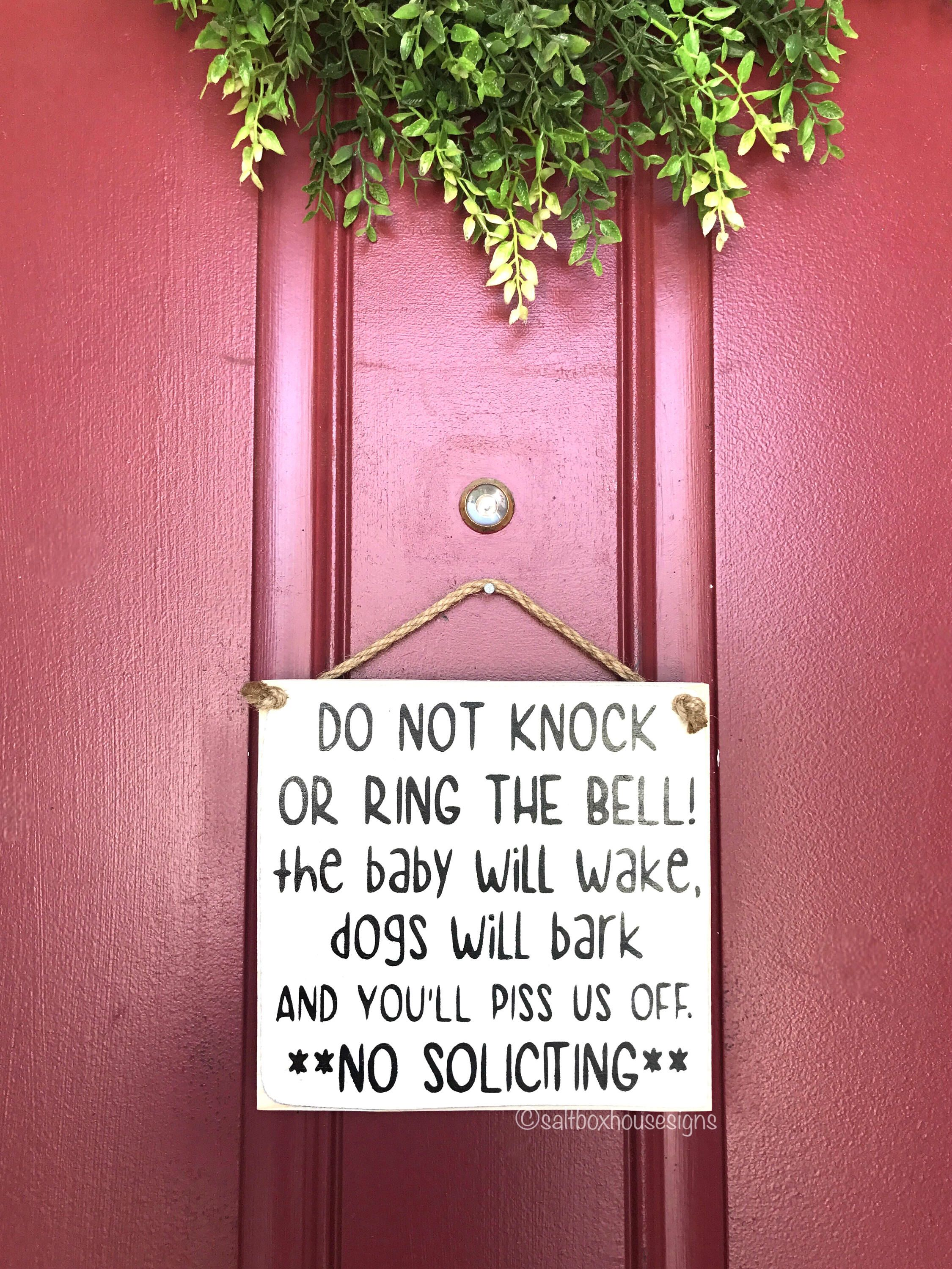 Youull piss us off door signs lol my signs pinterest