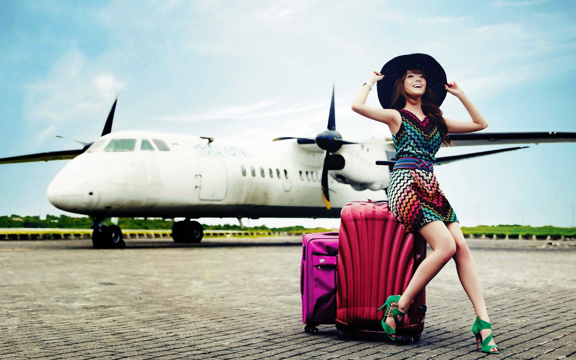 Asians Girls Generation SNSD KPop Korean aircraft.