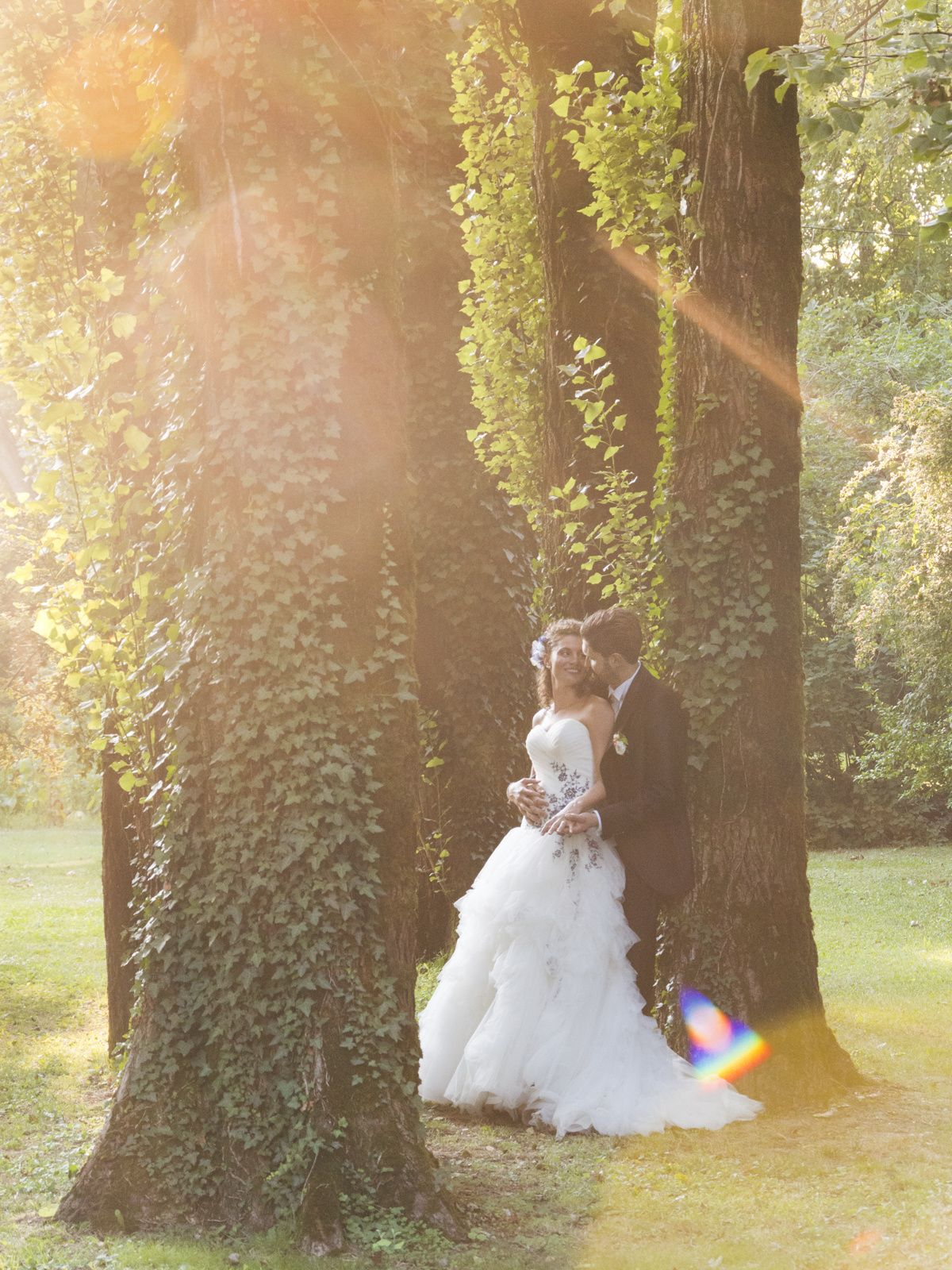 Real wedding   Chiara+Marco - Romantic photo session at the sunset @ Villa Ferrari wonderful garden. www.weddintellers.net