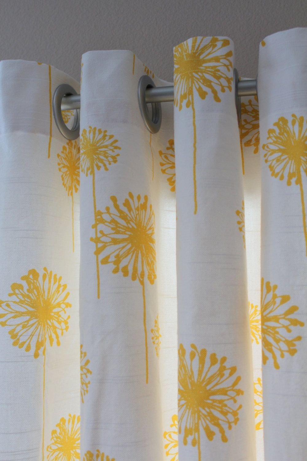Pair Of Designer Custom Curtain Panels 50 X 84 Yellow By Aletafae Curtains Panel Curtains Yellow Curtains Bedroom