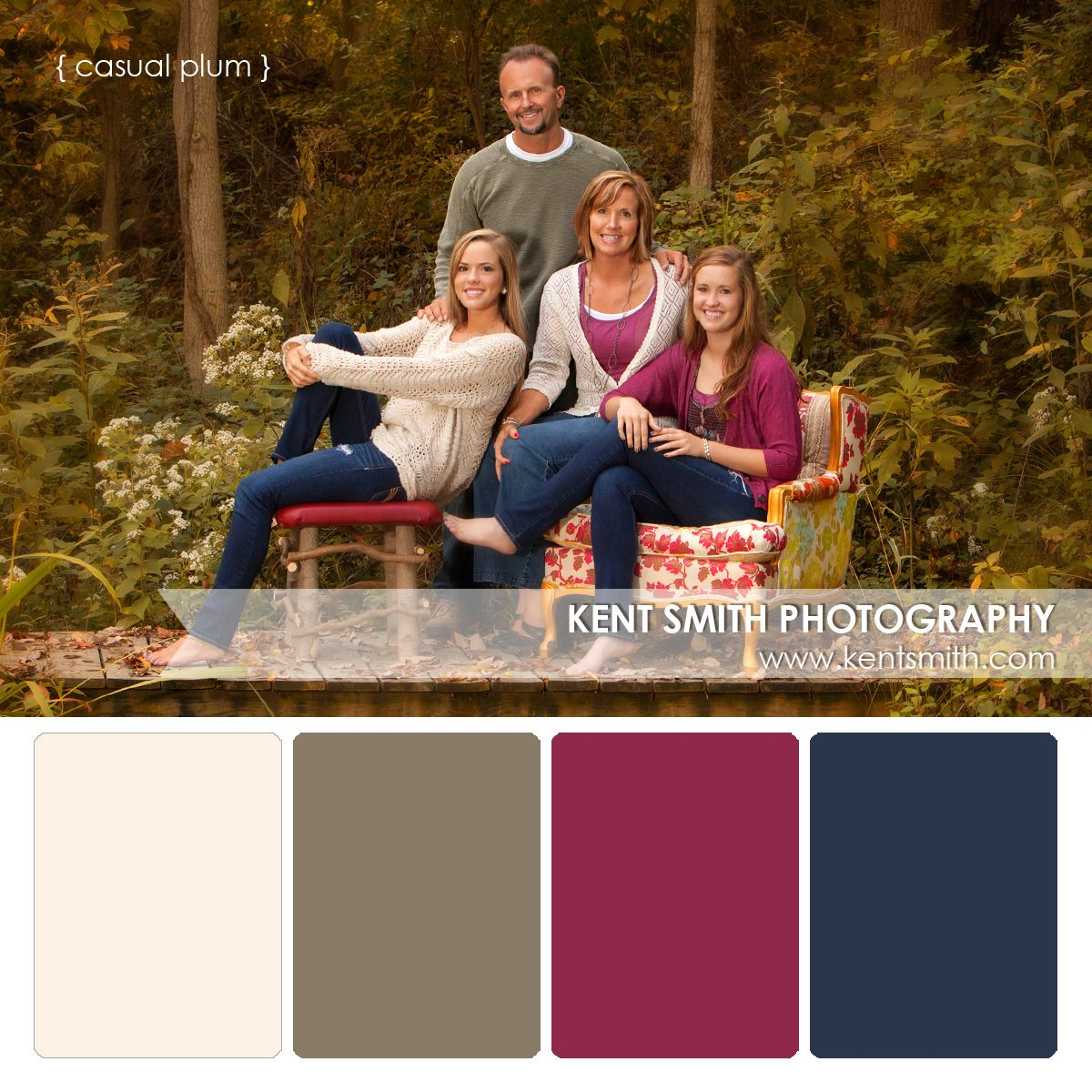 Portrait Palettes {casual plum}   Family photo colors ...