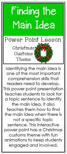 Main Idea Ppt Christmas Customs Custom Christmas Main Idea Winter Resources