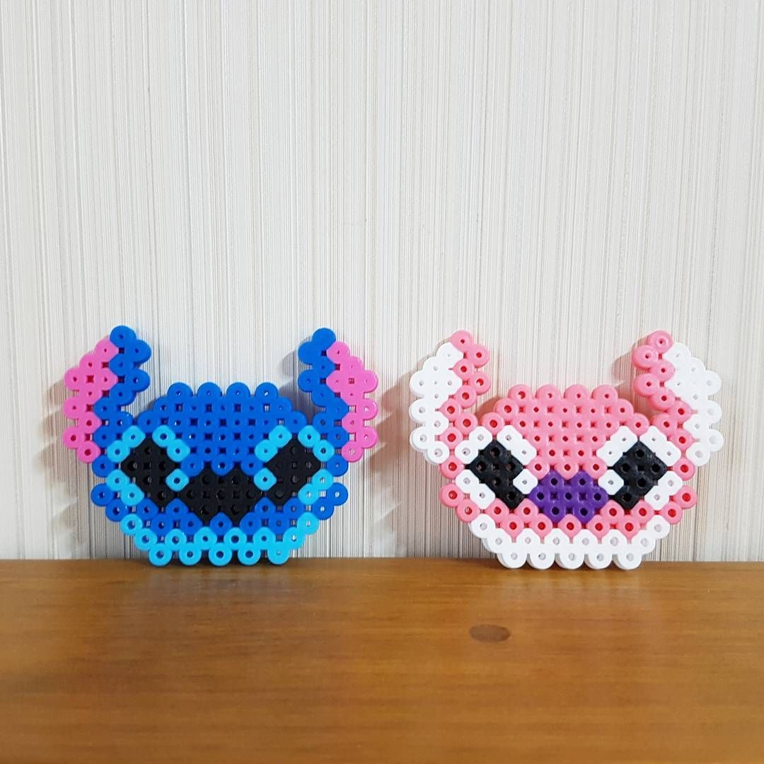 Stitch And Angel Perler Beads By Ddo Perler Bead Disney