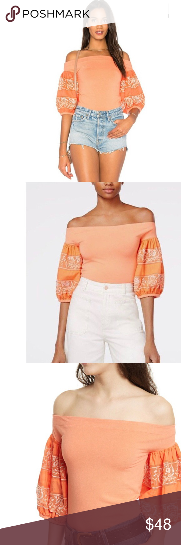 87eed2e5e2381 Free People Rock with It Off-the-Shoulder Top Free People Rock with It