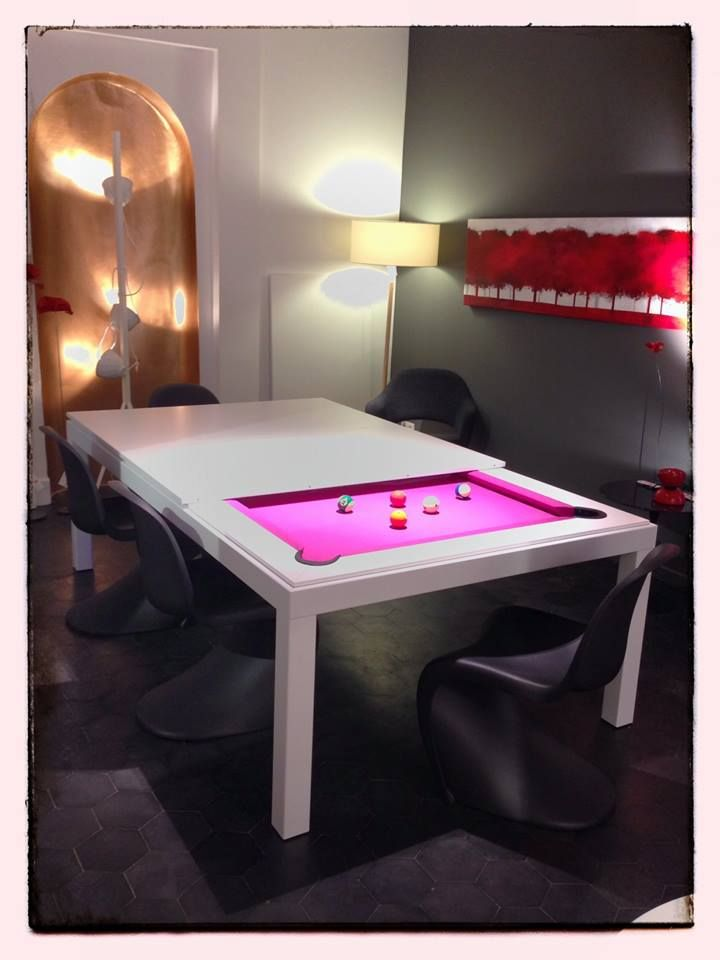 Chic Combination Pool Dining Table Pink Style By Fusiontables