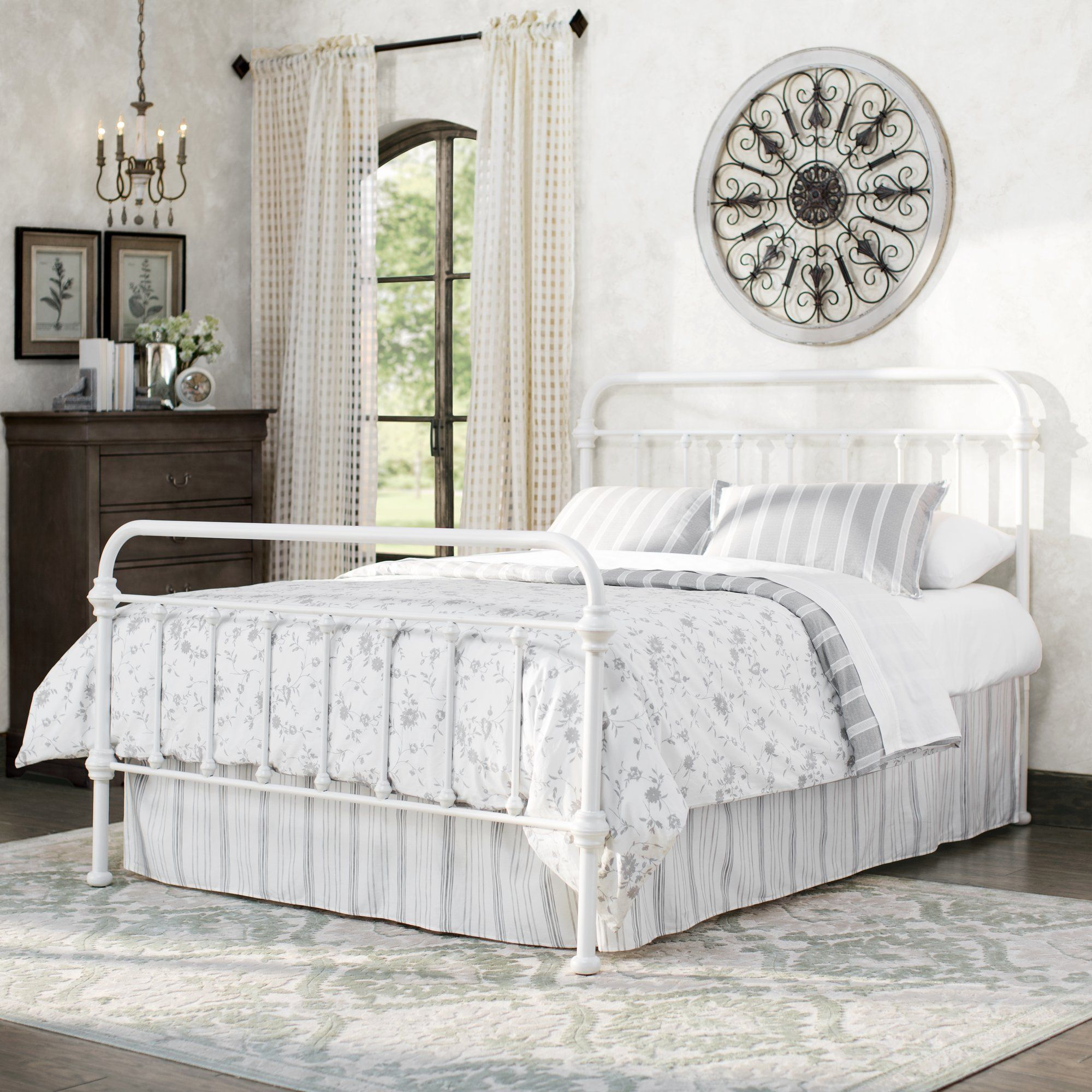 Cavaillon Standard Bed Panel bed, Metal beds, Headboards