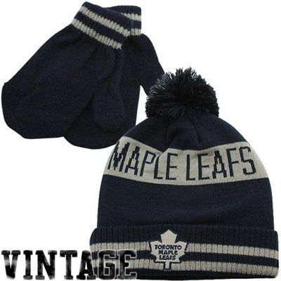 best cheap 090c6 1ebb4 Old Time Hockey Toronto Maple Leafs Youth Knit Beanie and ...