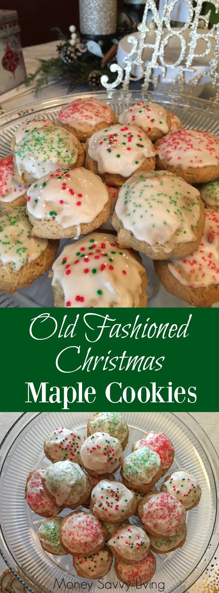 Old Fashioned Christmas Maple Cookies | Maple cookies, Christmas ...