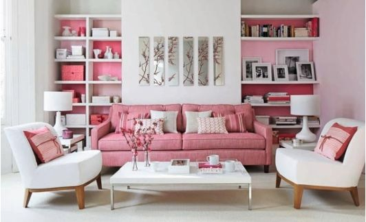 Pink Living Room Decor | Ideas for the House | Pinterest | Room ...