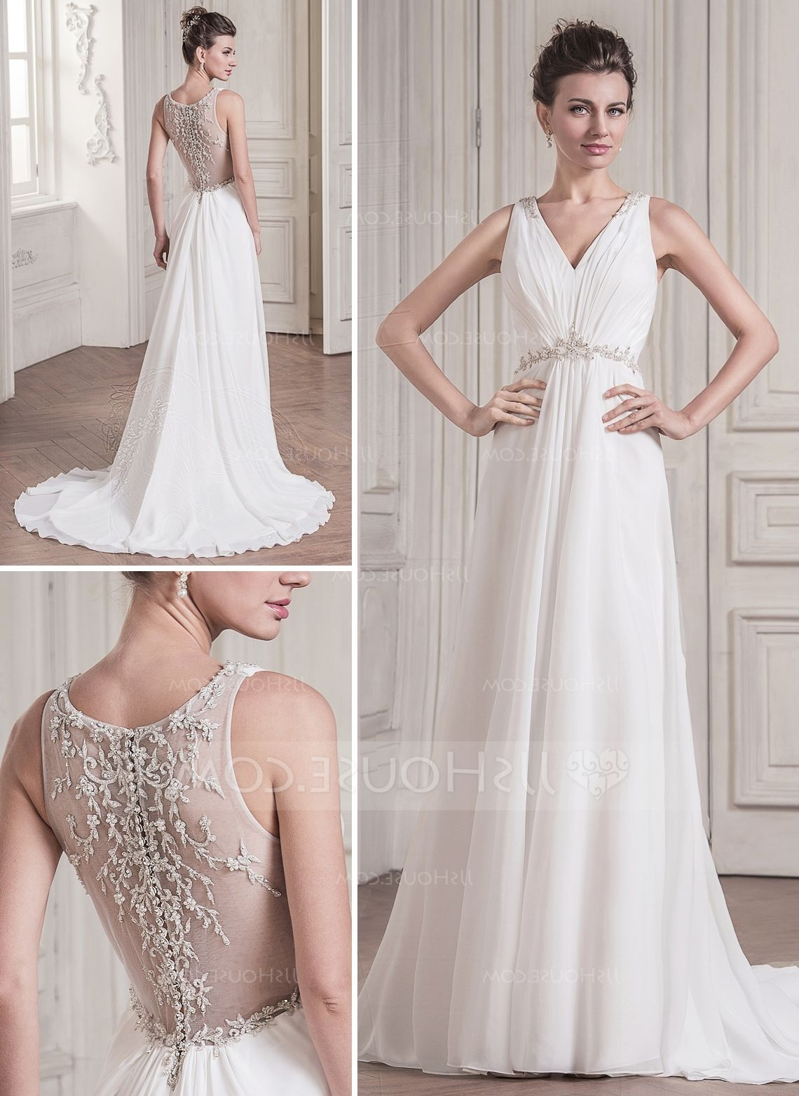 Jjshouse Wedding Dress V Neck Wedding Dress Pinterest Wedding