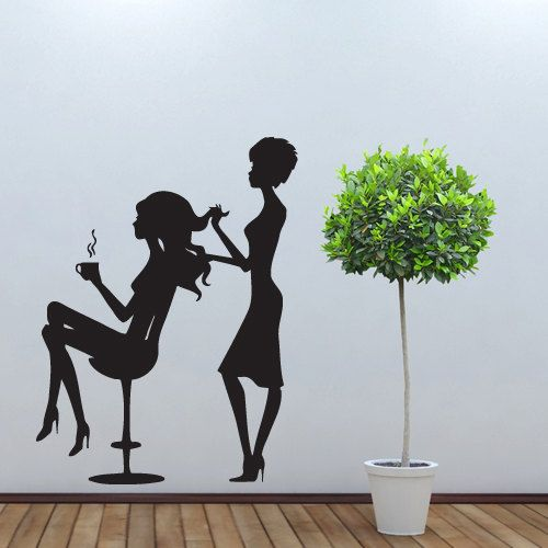 Hair Salon Wall Decor wall decal decor decals art hair salon beautydecorwalldecals