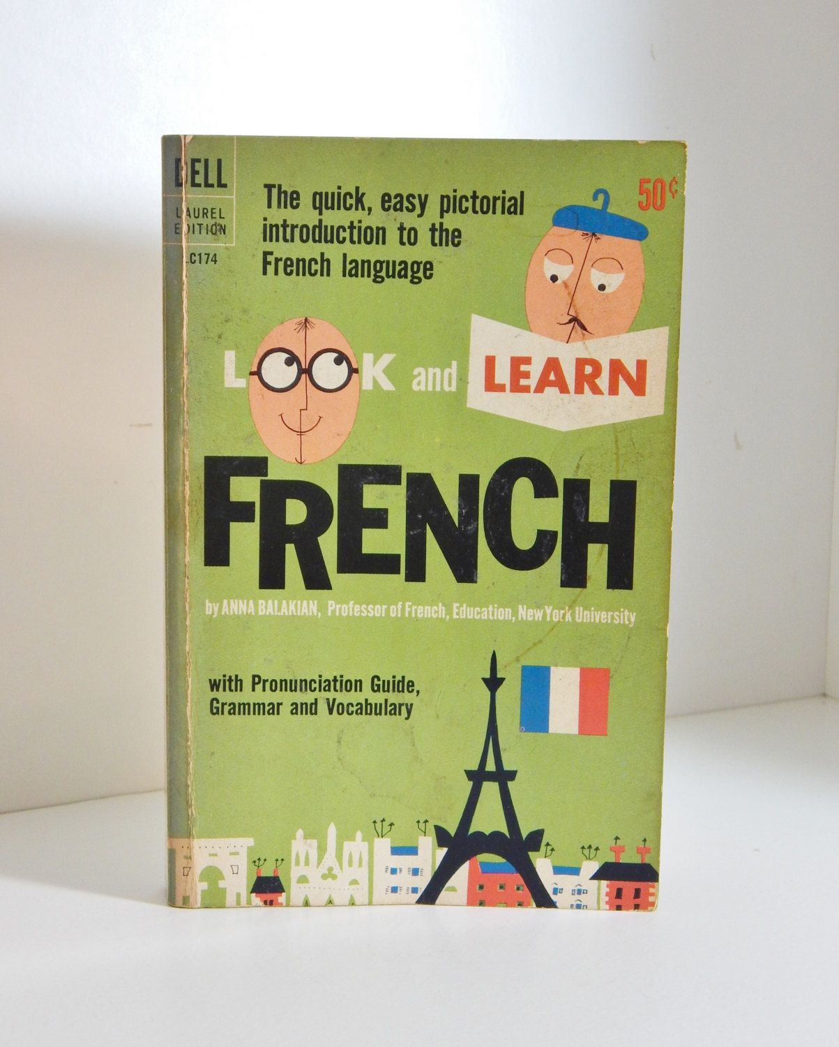 Vintage French Book Look and Learn French Grammar Vocabulary ...