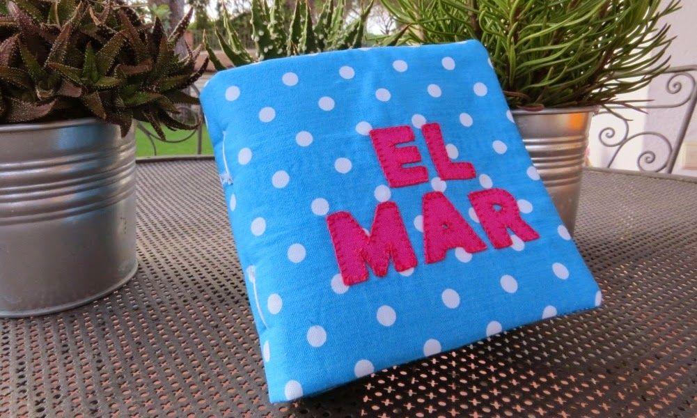 llibre de roba sobre EL MAR / libro de tela sobre EL MAR / fabric quiet book about THE SEA