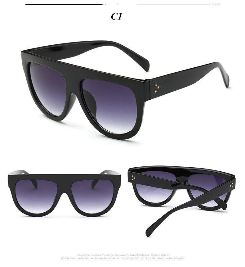 3bf1c1df2ec Italy Luxury Brand Designer Fashion Women Sunglasses Oversize Female Flat  Top Vintage Ladies Sun Glasses Men Eyewear Oh Yeah Get it here