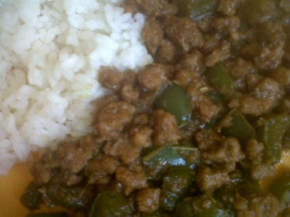 Recette - Recette végétalienne saveurs asiatiques (protéines de soja, poivron, shoyu, gingembre)   Notée 4.1/5