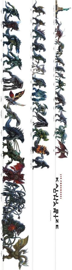 The Ultimate Kaiju Size Chart Kaiju size chart, Drawings and