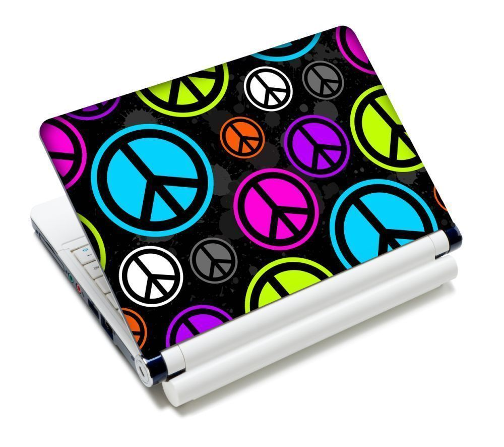 """Peace Sign Laptop Sticker Skin Decal For 11.6""""-15.4"""" Sony Toshiba HP Dell Acer"""