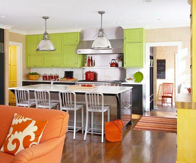 Le jaune pour une décoration intérieure joyeuse | Cuisine americaine ...