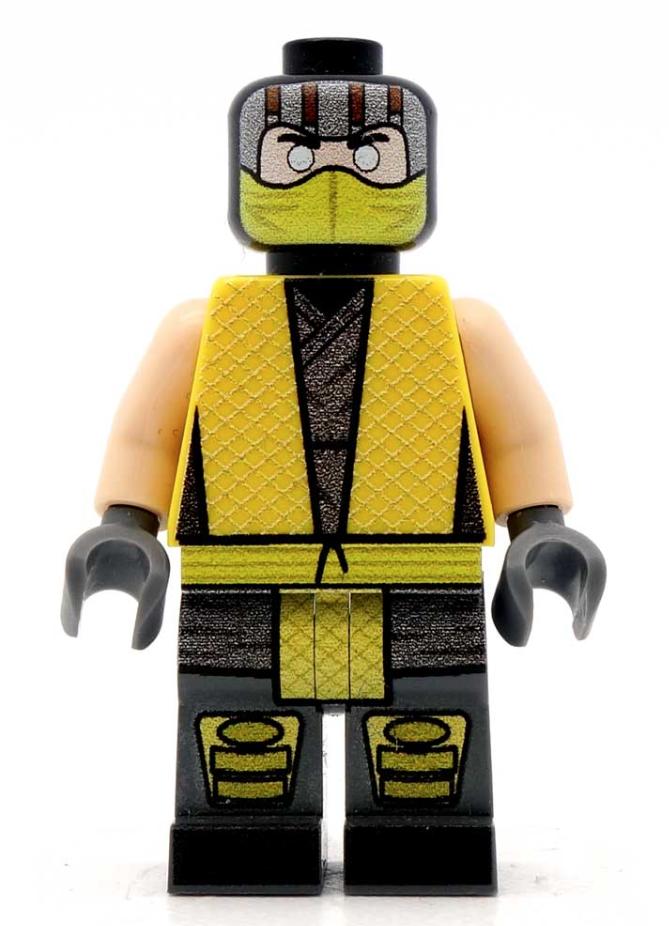 Mortal Kombat Lego Scorpion MiniFigure | Lego Mini Figures  Mortal Kombat L...