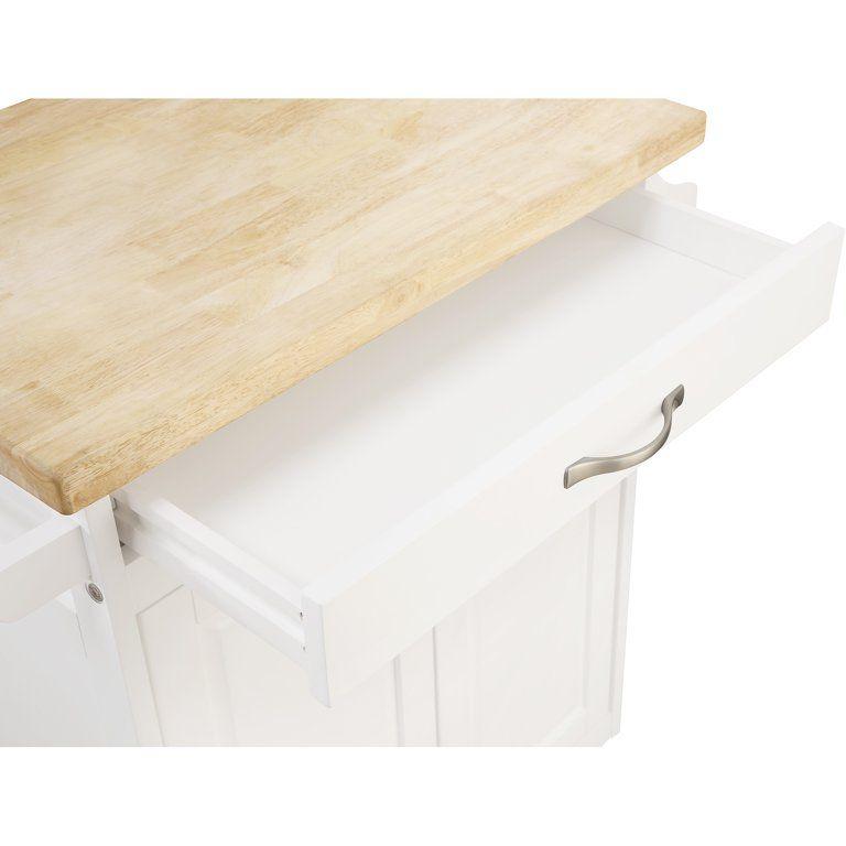Mainstays Kitchen Island Cart With Drawer And Storage Shelves White Walmart Com Storage Shelves Storage Cart With Drawers Slim Kitchen Storage